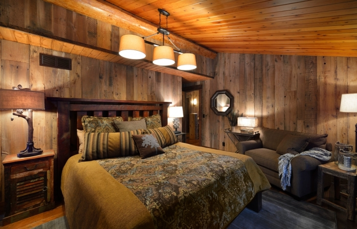 Rustic Wooden Walls Bedroom