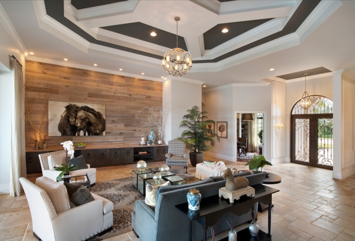 Beautiful Ceiling Family Room Wall Mural