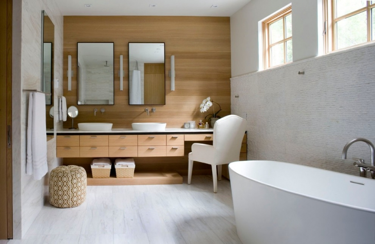Contemporary Bathroom With Storage Idea