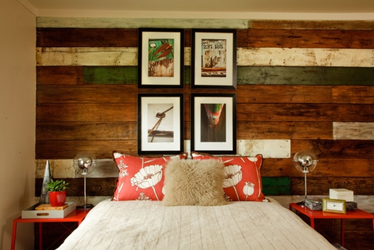 Beach Style Room With Colorful Wood.