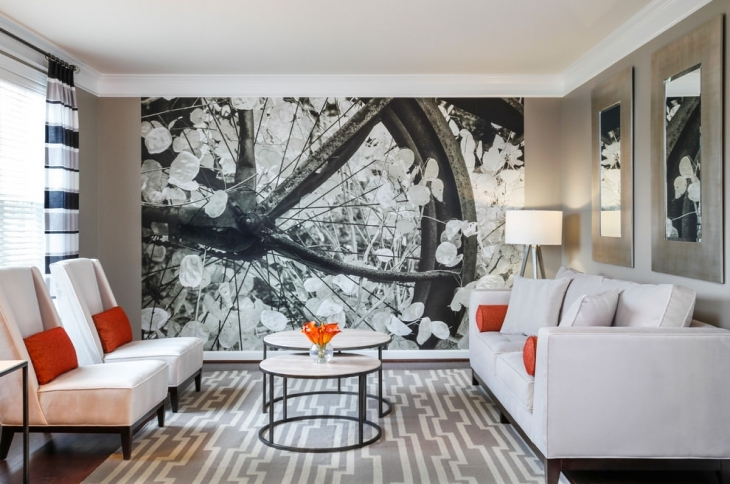 Innovative Living Room Wall Mural