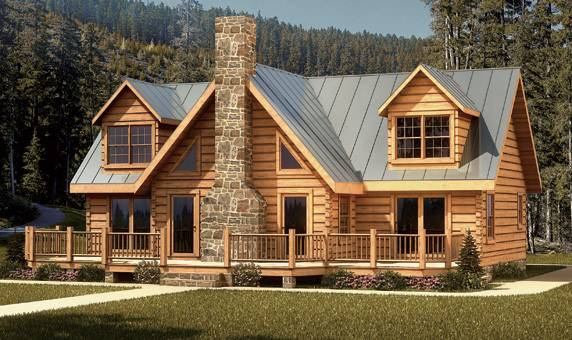 Extravagant Log House Design
