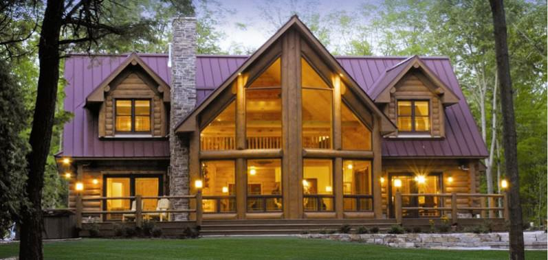 28 log house designs decorating ideas design trends for Luxury log home plans with pictures