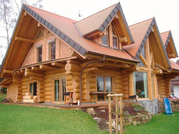 Log Wood House Design