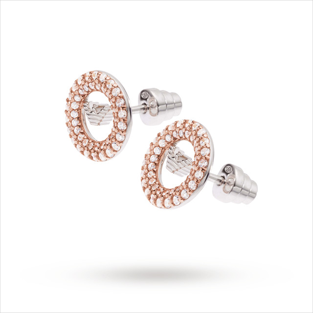 Beautiful Rose Gold Earrings with diamond