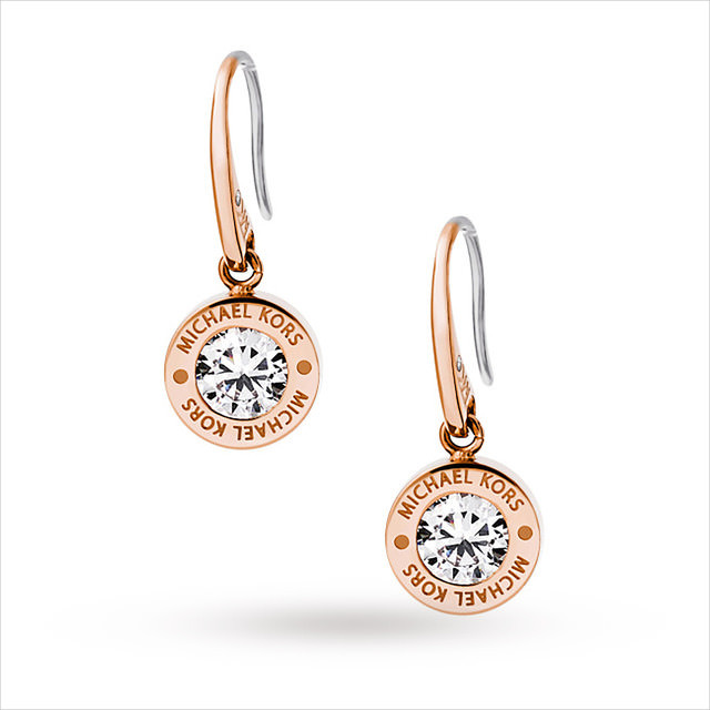 cool rose gold drop down earrings