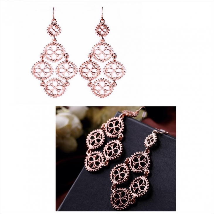 Charming Rose Gold Drop Down earrings