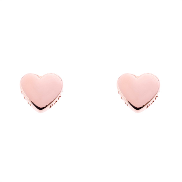 Cute heart shape rose gold Earrings