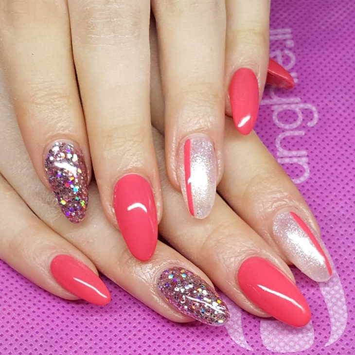 good looking sparkle nail design1