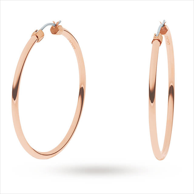 round shape rose gold earrings
