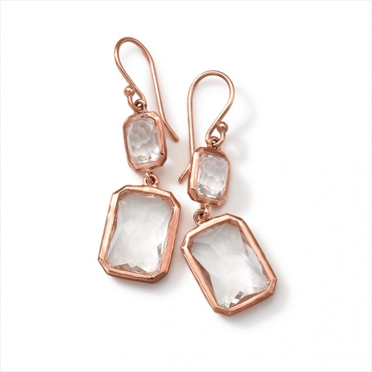 Amazing Rose gold Drop down Earrings