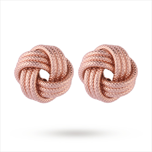 Unique Italian Style Rose Gold Earrings