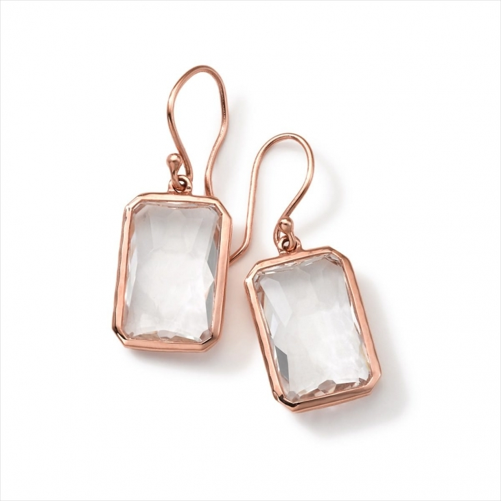 Beautiful Rose gold Drop down Earrings