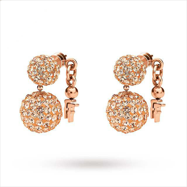 fancy rose gold earrings