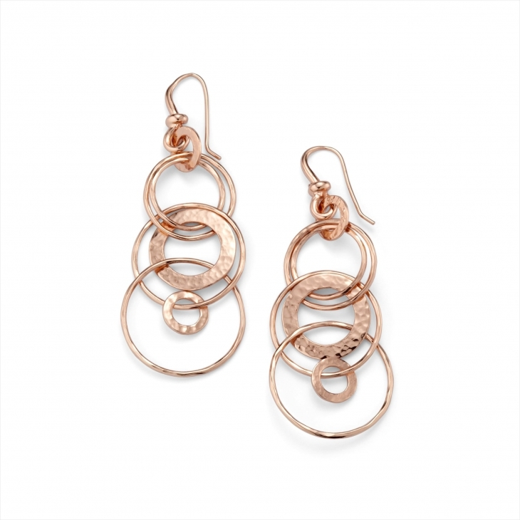 Unique Rose Gold Drop Down Earrings