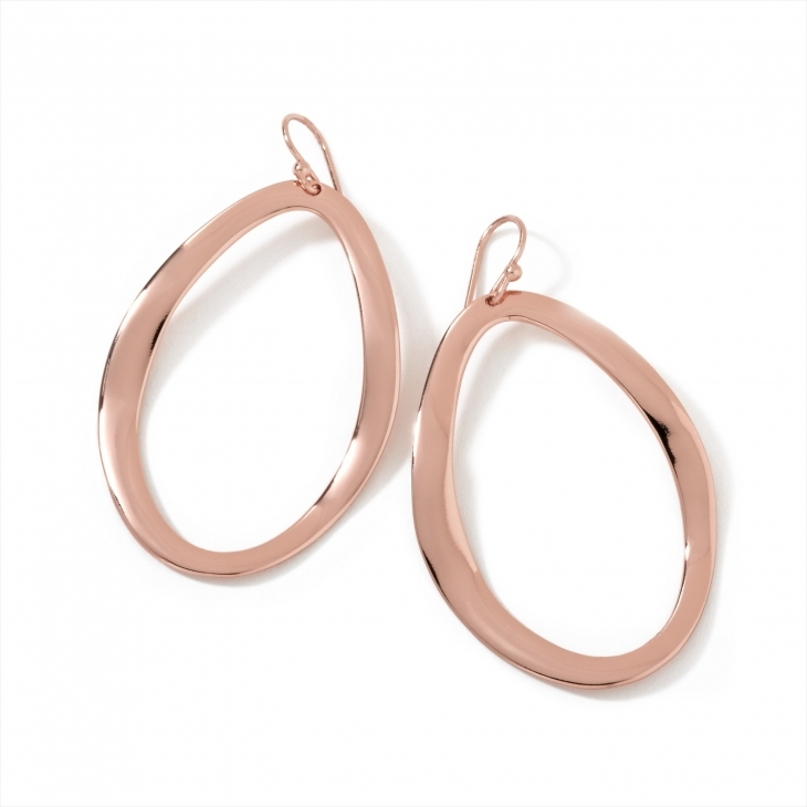 stylish oval rose gold earrings
