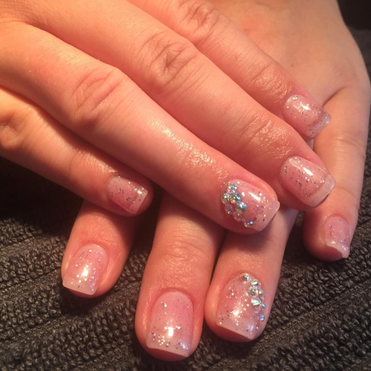 Stone Sparkle Nail Design
