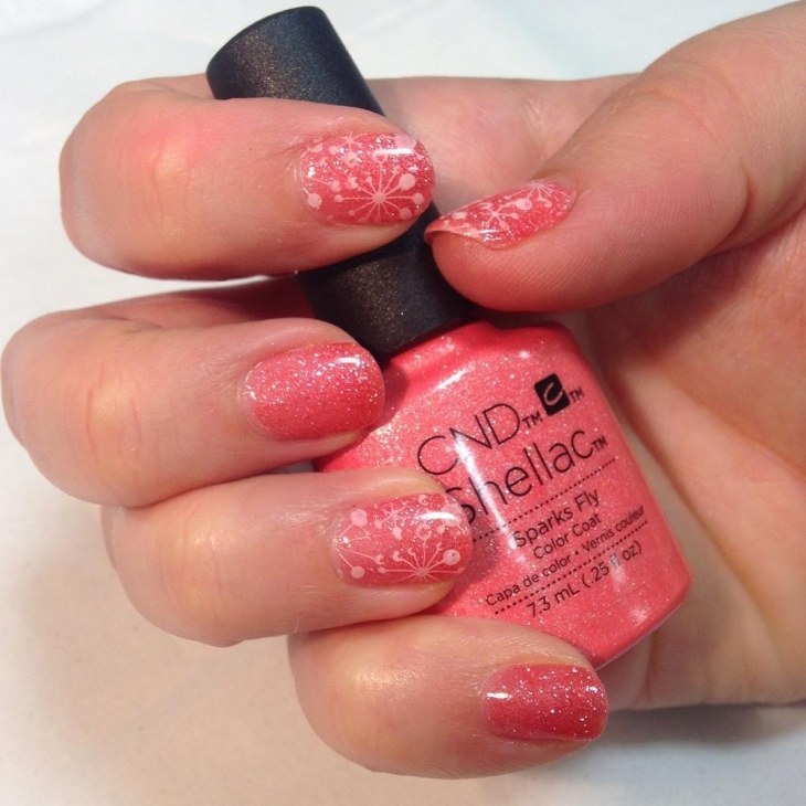 nice color sparkle nail design1
