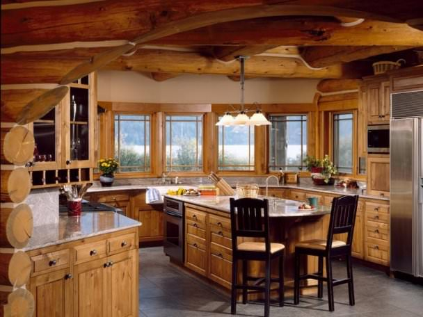 Log House Kitchen Design