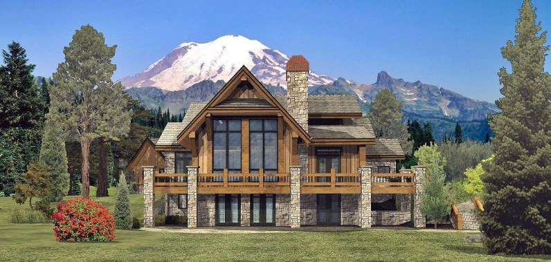 Grayson Peak Log House Design
