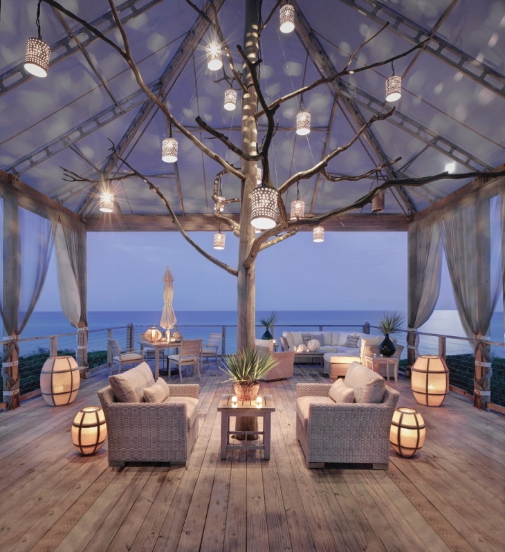 Awesome Outdoor Living Room Decoration