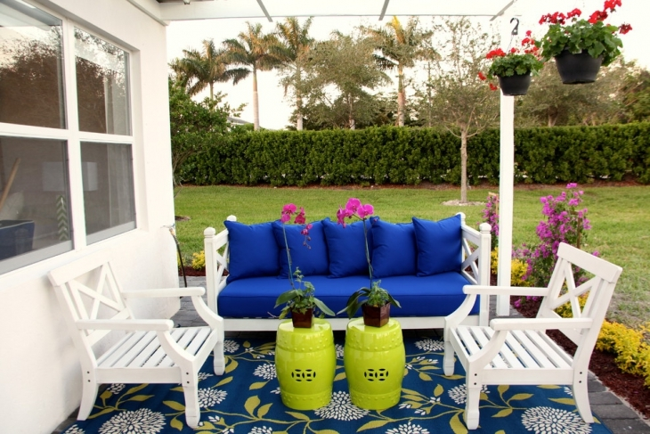 colorful outdoor furniture idea