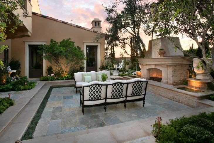 sofa design for mediterranean patio