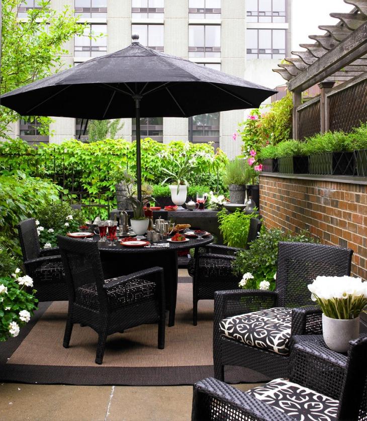 outdoor black dining furniture