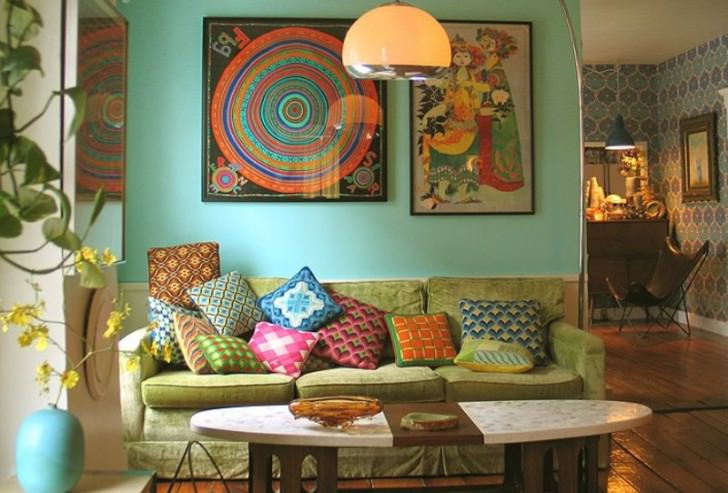 Nice Decorating Eclectic Living Room Design