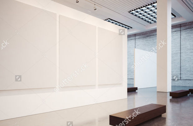 Classic Empty Gallery Mockup