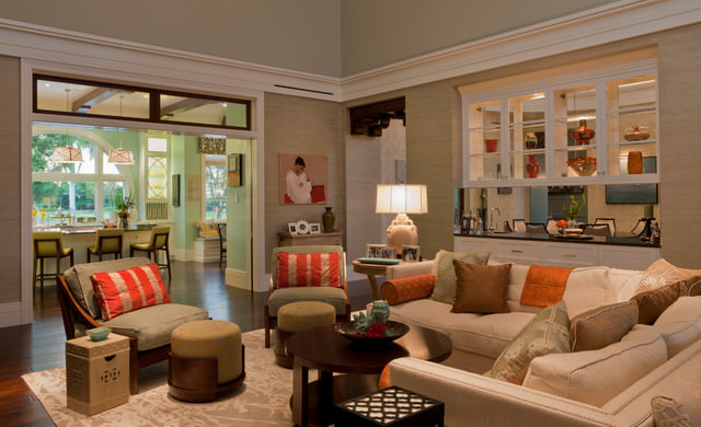 uniques eclectic living room design
