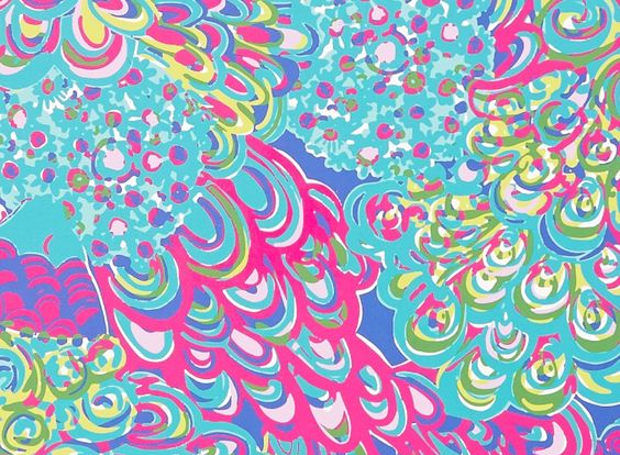 Colorful Lilly Pulitzer Background