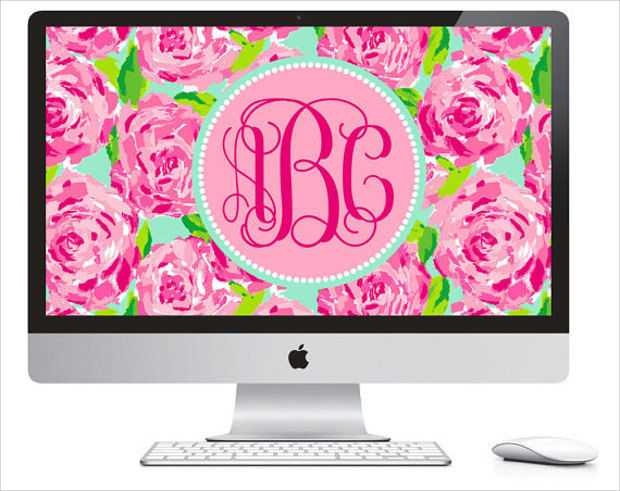 Lilly Pulitzer Background for Computer