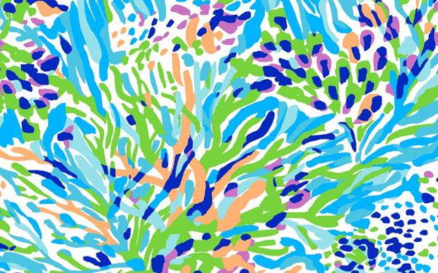Lilly Pulitzer Colorful Background
