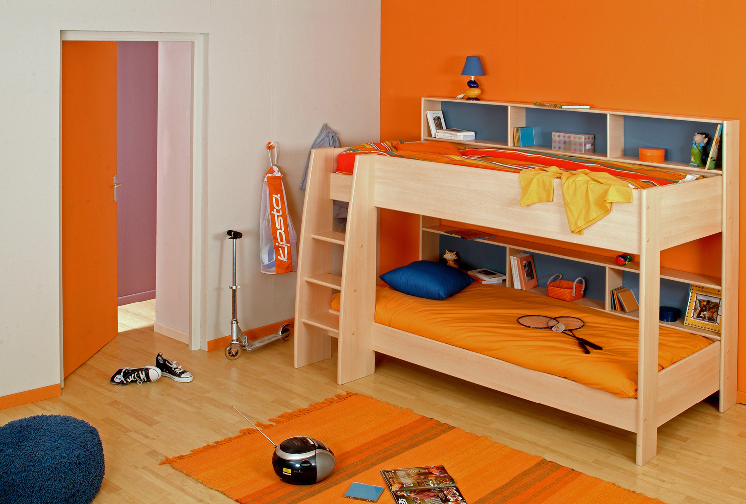 18 bunk bed bedroom designs decorating ideas design for Kids bed design