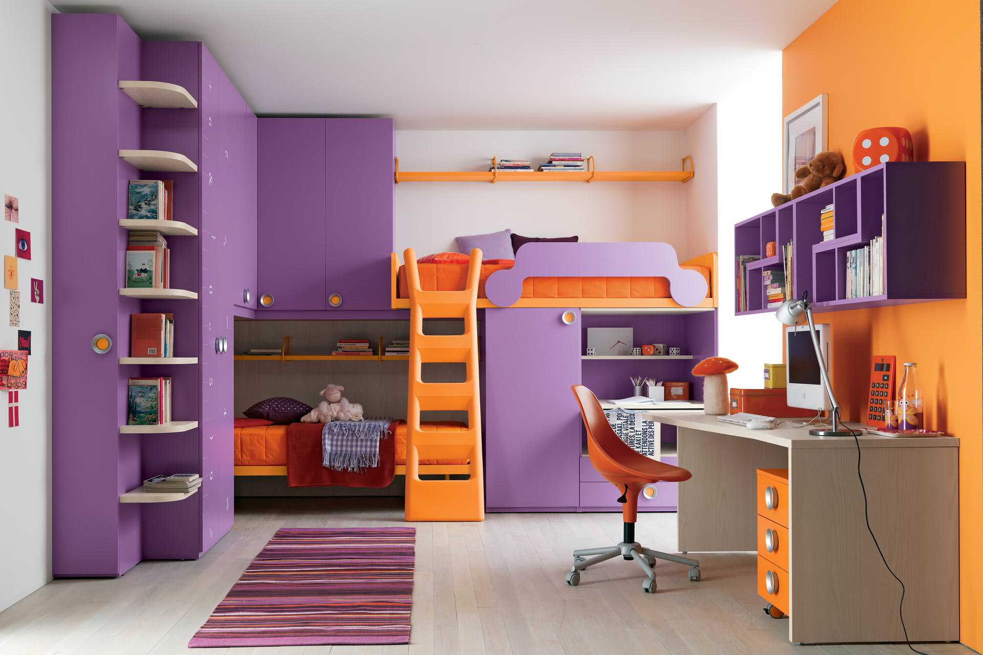 Bedroom ideas for girls with bunk beds - Girls Bunk Bed Design