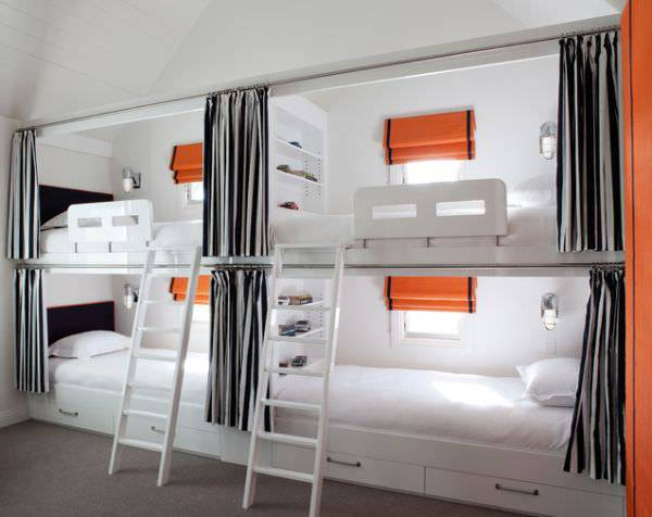 white bunk bed design