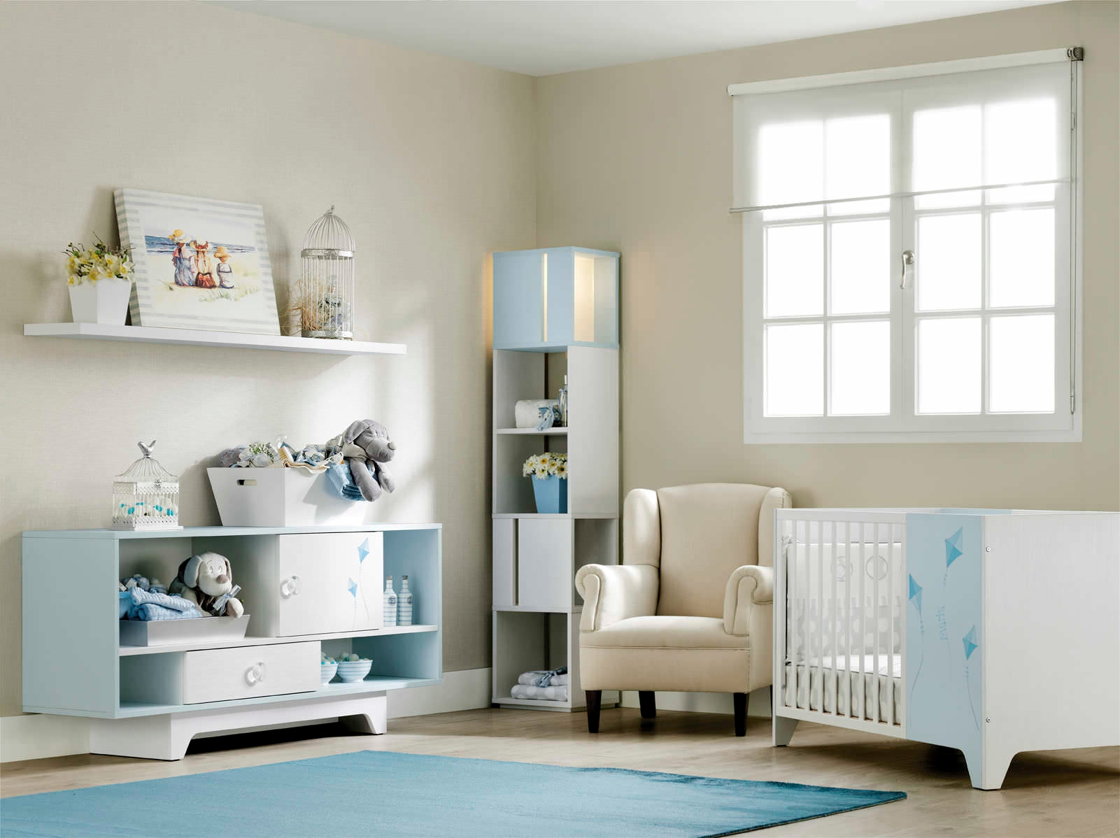 Baby Boy Nursery Design With Furniture