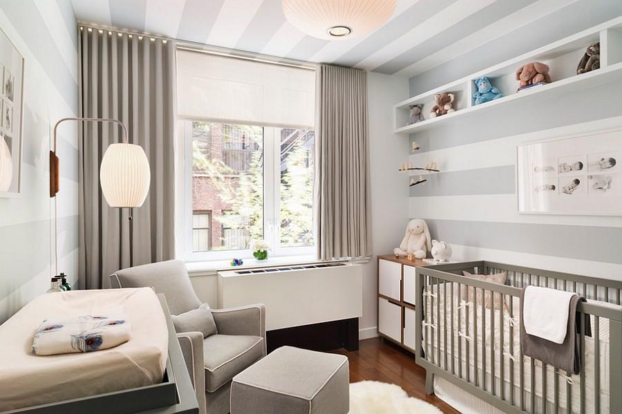 gray baby boy nursery design