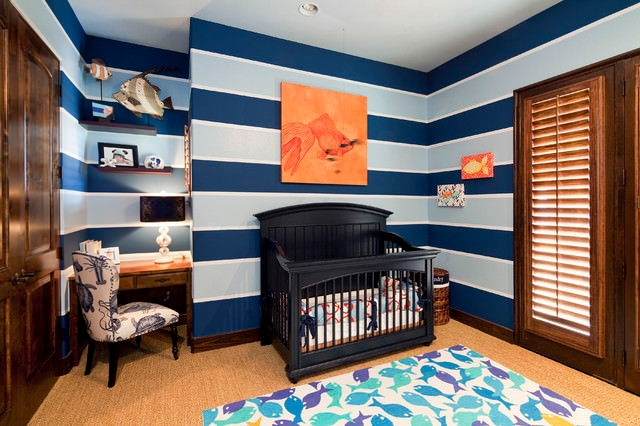 Contemporary Baby Boy Nursery Design