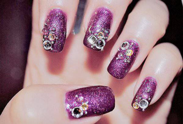 New Year Dark Nail Design