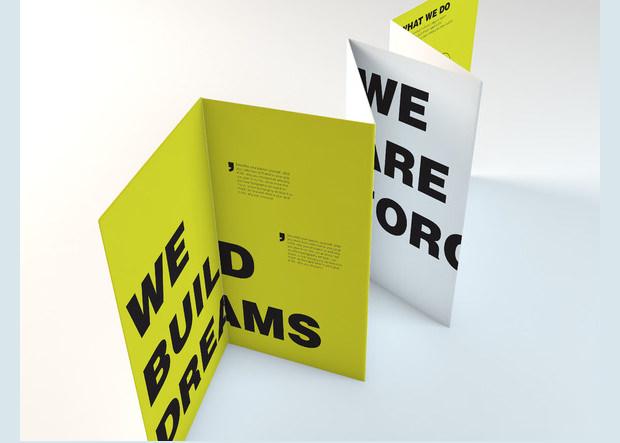 Folded Brouche Mockup Design