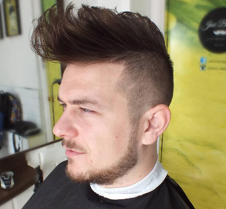 high mid taper fade haircut design