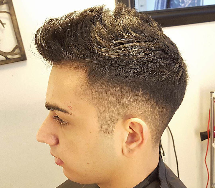 Spiked High Top Taper Fade Haircut Ideas