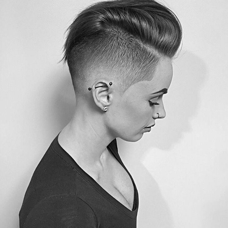 Side Taper Fade Haircut for Women