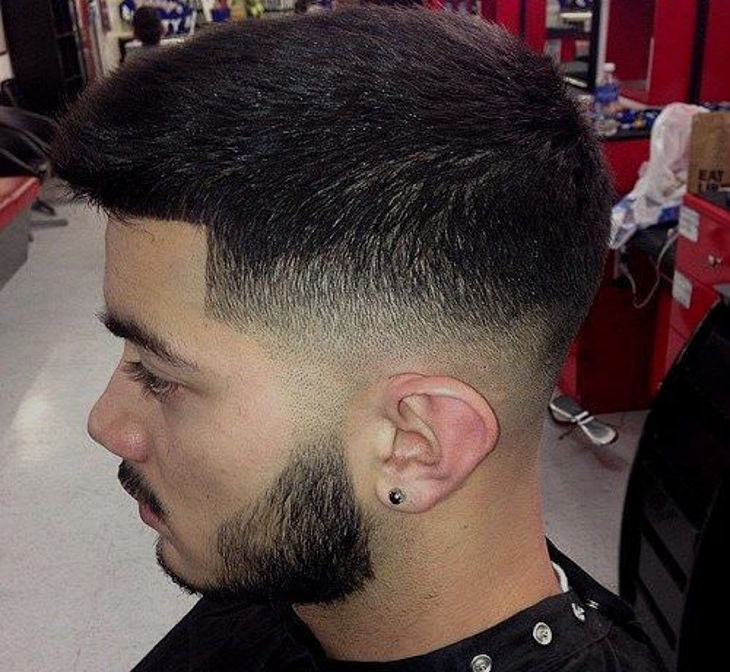 simple taper fade haircut design
