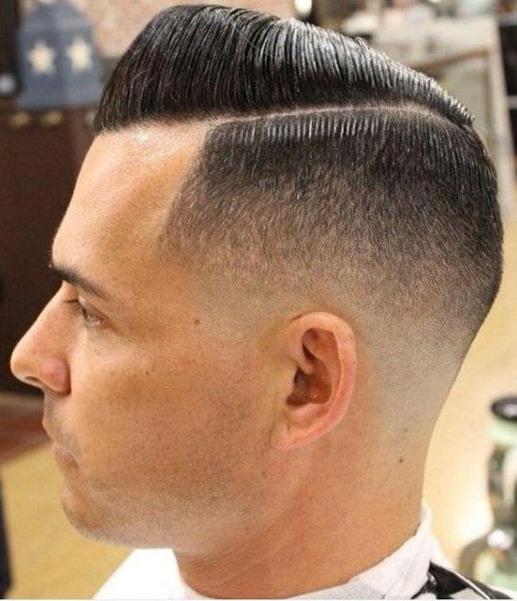 retro style taper fade haircut