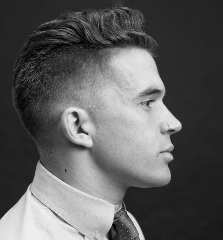 Side Combover Taper Fade Haircut
