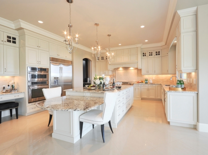 Luxury Cream Color Kitchen