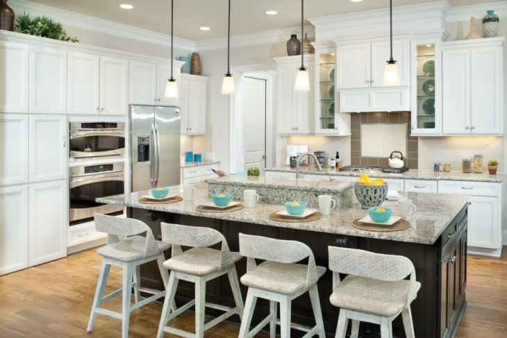 White Color Kitchen Decorating Idea